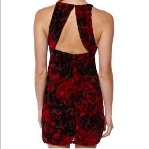 Somedays Lovin Red Velvet Dress Back Cutout NWT